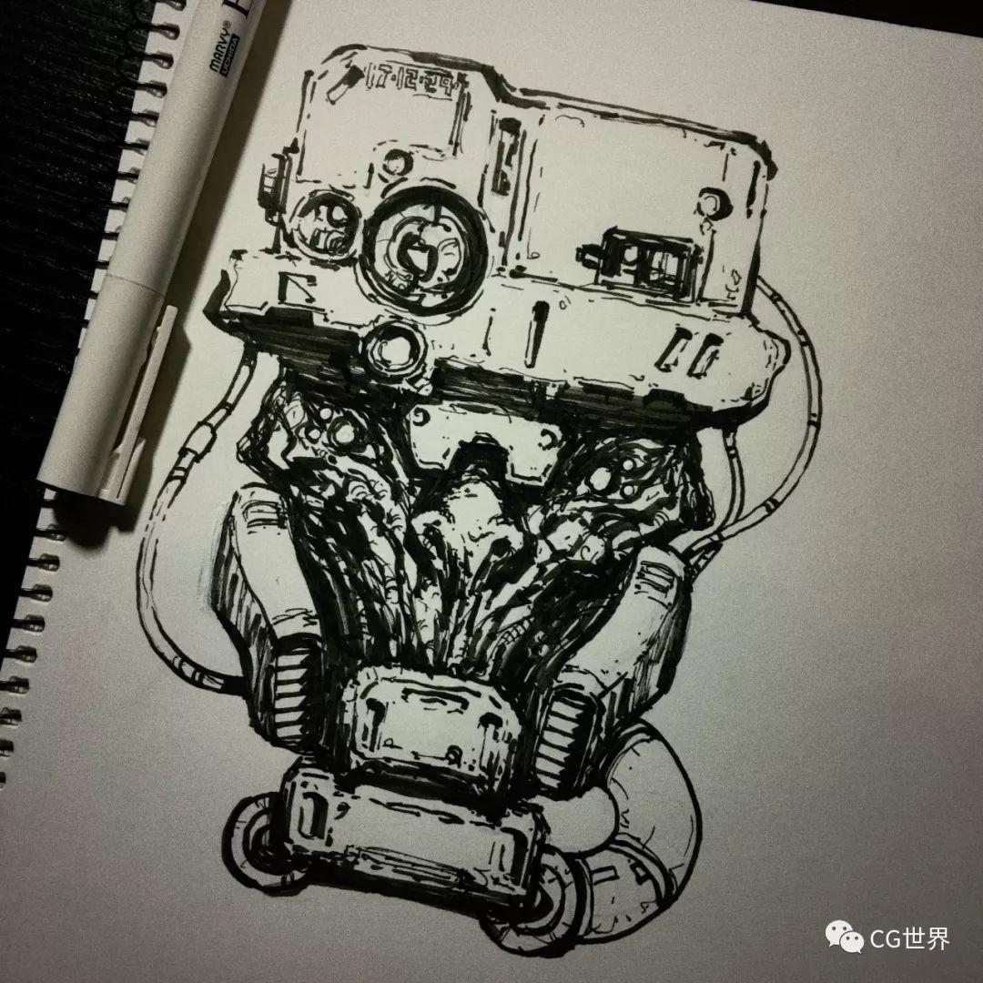 一天一张手稿练出极致概念,国内科幻概念艺术家作品大赏~