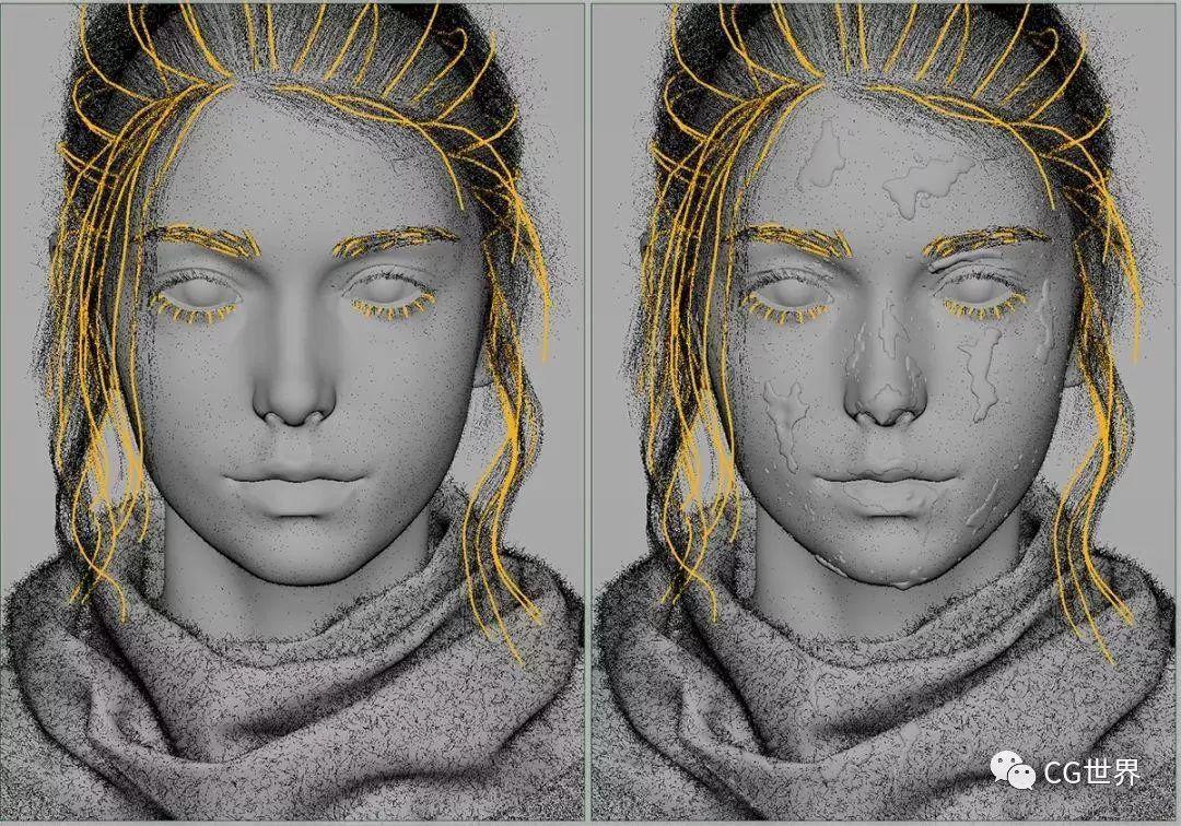 要不是看到网格,我真信了!RS渲染超写实人物头像