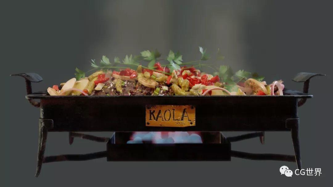 烤鱼、小龙虾、卤鸡爪!CG界大厨独家专访