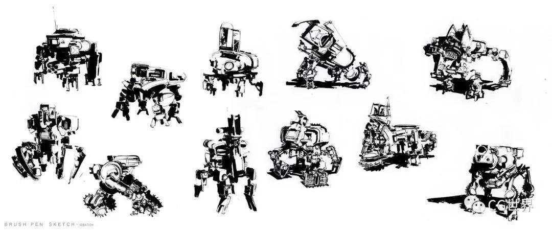 一些角色、生物、建筑、机甲三视图集锦