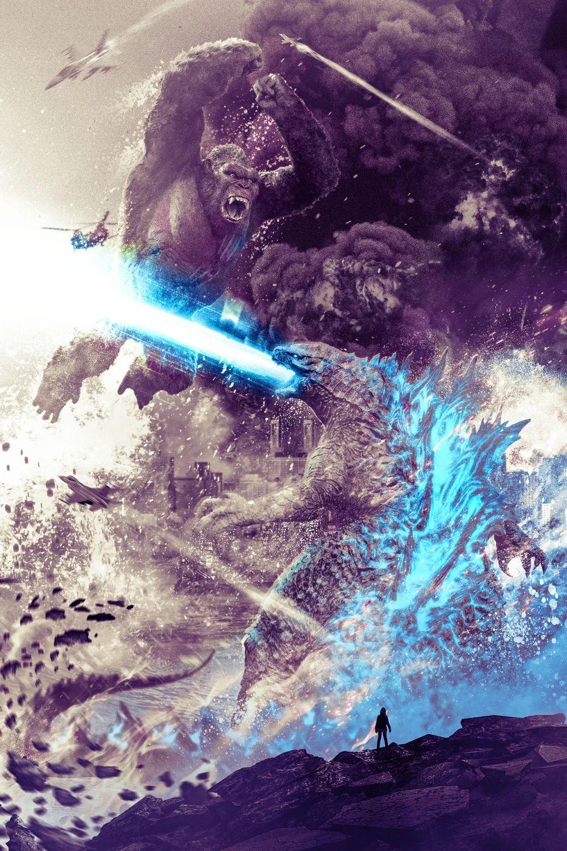 《哥斯拉大战金刚》一丢丢概念图和海量美爆海报