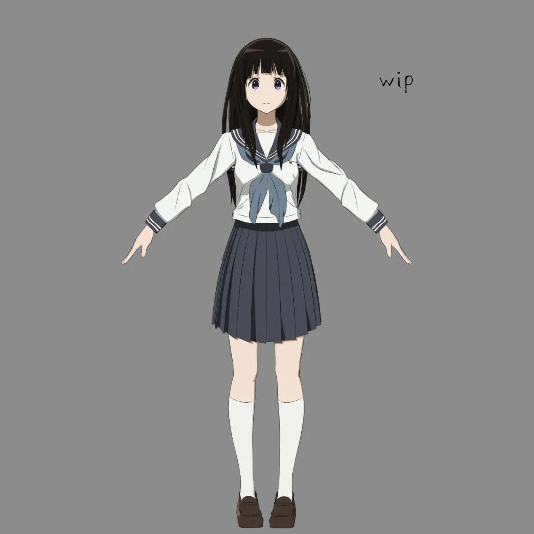 3DMax做的三渲二?日本3D艺术家精准还原二次元动漫角色!~